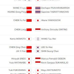 本日昼より放送!世界王者へ日本選手が王手をかける!バドミントンツアーファイナル2019