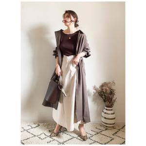 アイボリーのスカートで秋カラーを明るく!コーディネート