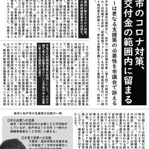 松戸市のコロナ対策、国の交付金の範囲内に留まる