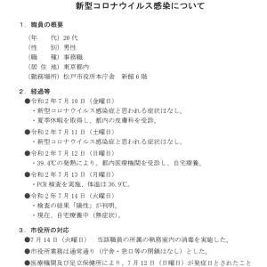 松戸市役所本庁舎(新館)に勤務する職員の新型コロナウイルス感染について
