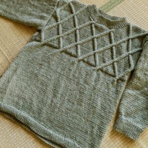 ユニセックスセーター諦め交差模様のセーター