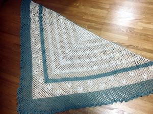 ネット編みのショールとぬくぬくスヌード