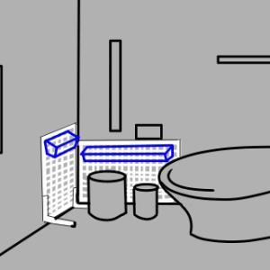 トイレの収納をワイヤーネットで