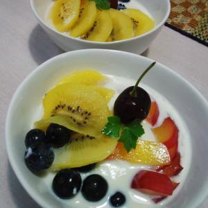 新鮮フルーツヨーグルト