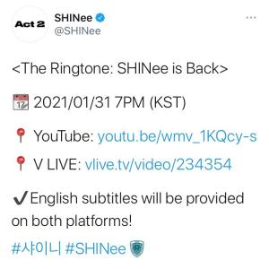 The Ringtone: SHINee is Back!