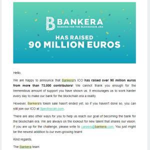 Bankeraが9000万euro越え!! すげっーーーーー!