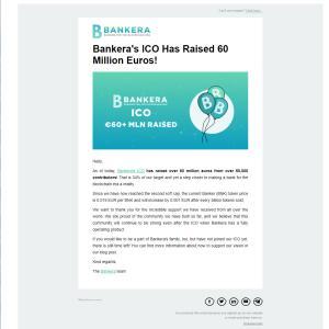 仮想通貨「BNK」 Bankeraからメッセージがとどきました
