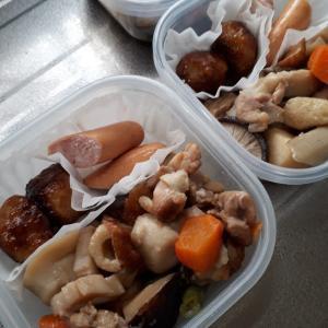 弁当(煮物、肉団子)