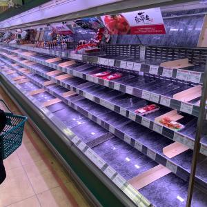スーパー買い占め!