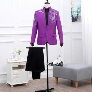 なかなか見かけない綺麗な舞台スーツセット★6千台♪豪華なカラードレスは2万円台で買えます♪