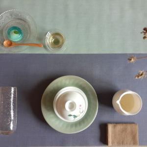文山包種茶と錦玉羹