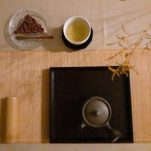 宇治茶と水無月