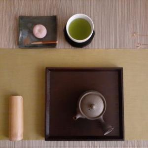 鹿児島茶(朝露)と牽牛花(朝顔)