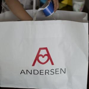 アンデルセンのパンとクルイェンポルヴィのプレートでシフォン。