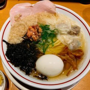 背脂塩生姜ワンタン麺:幡ヶ谷「我武者羅」