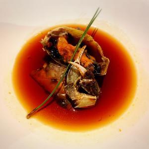 上海蟹にフカヒレ姿煮に:新富町「一凛」