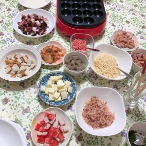 お誕生日パーティーご飯 たこ焼きパーティー