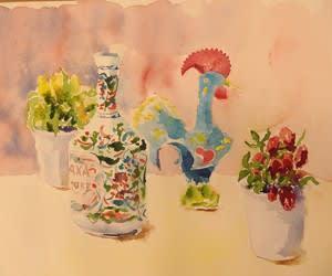 水彩教室 「色を選ぶ」