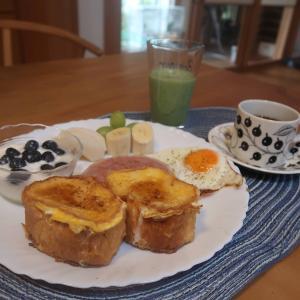 バケットフレンチトーストの朝食 と ゴルフラウンド♪