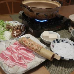 """塩麹鍋の晩ご飯 と """"ケメちゃん""""の床暖房♪"""