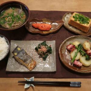 鰆の西京焼&豚汁の晩ご飯 と 年代物のお雛様♪
