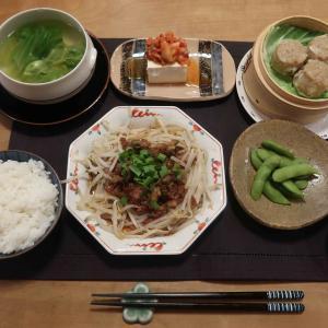 カリカリ豚モヤシで中華っぽい晩ご飯 と 進化する『アガベ』の花壇♪