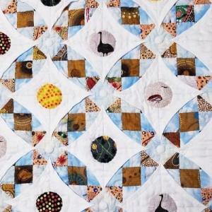 アボリジニの布でカテドラル