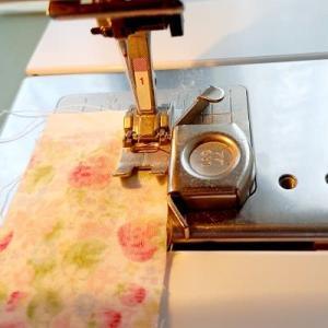 ナインパッチをミシンで正確に縫うには☆Wガーゼのスカーフ