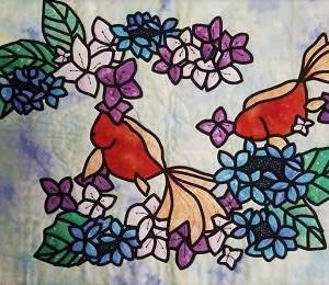 ステンドグラス・紫陽花と金魚、ポーチ&バッグ