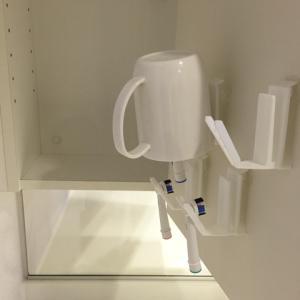 ヌルヌルさよなら!歯ブラシとコップを乾かしながら省スペース収納
