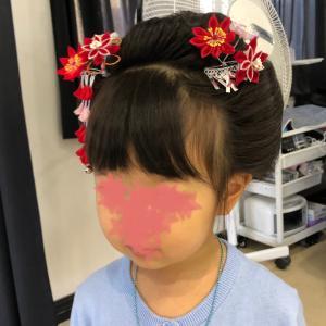 七五三ヘアセット 日本髪