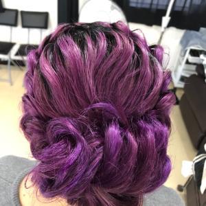 編み込みヘアセット
