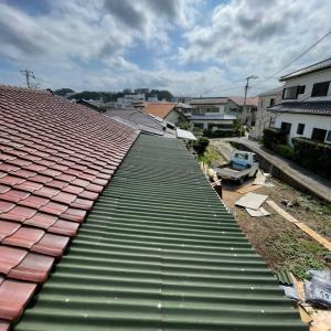 とりあえず屋根完成