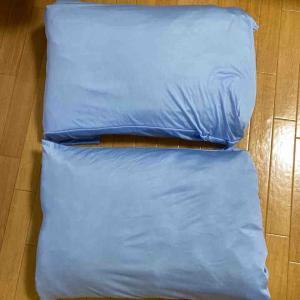 《【節約リメイク】ひんやり接触冷感シーツで簡単な枕カバー作りました&ファスナー再利用アイデア》
