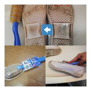 《靴洗いを楽にするアイテム探し!アイセンダブルシューズブラシ使用感レポート》