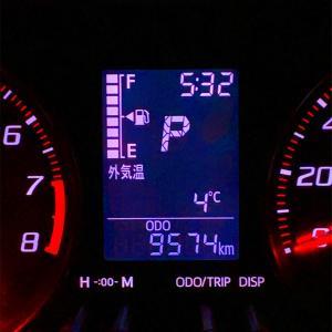 今朝の気温4度