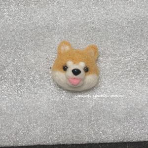 ●羊毛フェルト☆小さい柴犬の顔