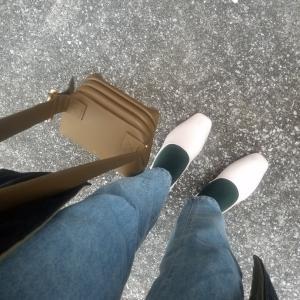 激安!!東大門で15000wで買った白い靴