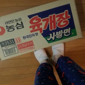 韓国カップラーメンを箱買い