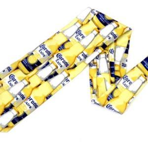 メキシコ メキシカン ビール コロナ ロゴ デザイン ネクタイ