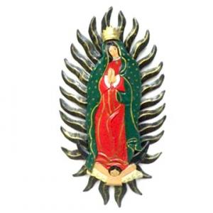 メキシコ マリア グアダルーペ ブリキ 壁掛け 飾り 27cm