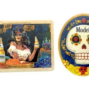 メキシコ ビール モデロ 死者の日 メキシカンスカル 骸骨 デザイン ビア コースター セット