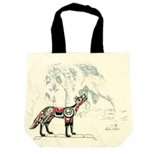 カナダ ネイティブ インディアン デザイン カバン バッグ Wolf ウルフ