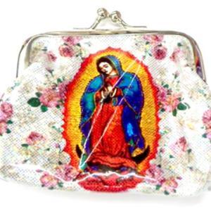 メキシコ マリア グアダルーペ デザイン がま口 財布 コインパース 小銭入れ ミニポーチ