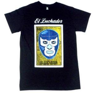 メキシコ プロレス ルチャリブレ レスラー ロテリア デザイン Tシャツ