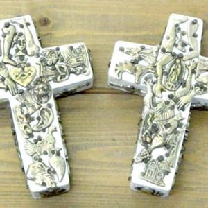 ミラグロ ウッド クロス アート インテリア 壁掛け 飾り 十字架 小さいサイズ