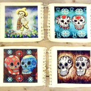 デイ・オブ・ザ・デッド メキシコ 骸骨 シュガースカル メキシカンスカル デザイン コースター
