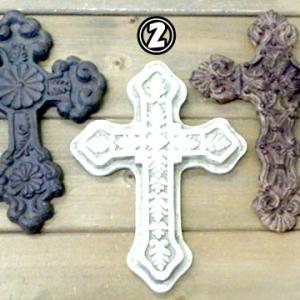 アンティーク調 十字架 クロス アート インテリア 壁掛け 飾り 17cm