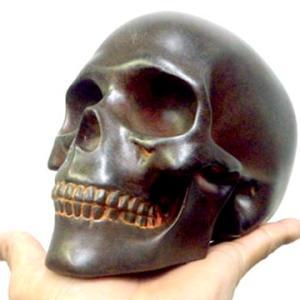 ラスト スカル ヘッド インテリア オブジェ 錆 骸骨 しゃれこうべ 頭蓋骨 置物