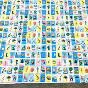 メキシコ ビンゴ ロテリア デザイン 布 ファブリック 生地 (3メートル サイズ)